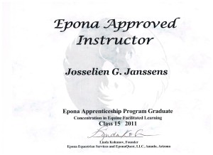 J. G. Janssens scan of Eponaquest Certificate